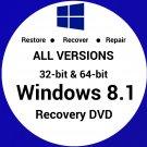 Windows 8.1 Enterprise N 64 Bit Recovery Reinstall Boot Restore DVD Disc Disk