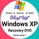 Windows Xp Starter 32 Bit Recovery Reinstall Boot Restore DVD Disc Disk