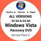 Windows Vista Business 64 Bit Recovery Reinstall Boot Restore DVD Disc Disk