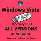 Windows Vista Home Basic 64 Bit Recovery Install Reinstall Boot USB Stick