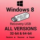 Windows 8 Home 64 Bit Recovery Install Reinstall Boot Restore USB Stick