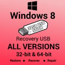 Windows 8 Pro VL 32 Bit Recovery Install Reinstall Boot Restore USB Stick