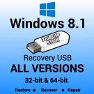 Windows 8.1 Professional 32 Bit Recovery Reinstall Boot Restore USB Stick