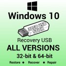 Windows 10 Enterprise 64 Bit Recovery Reinstall Boot Restore USB Stick