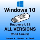 Windows 10 Enterprise 32 Bit Recovery Reinstall Boot Restore USB Stick