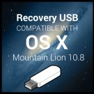 Reinstall Stick Compatible with MacOS 10.8 Mountain Lion Upgrade Restore