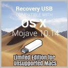 macOS Mac OS X 10.14 Mojave Bootable USB Full Install for Unsupported Macs