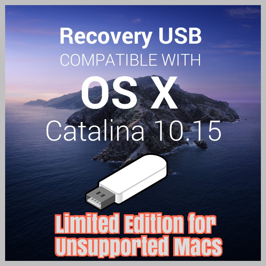 macOS Mac OS X 10.15 Catalina USB Full Install for Unsupported Macs