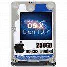 macOS Mac OS X 10.7 Lion Preloaded on 250GB Sata HDD