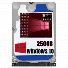 250GB 2.5 Hard Drive For Lenovo ideapad Flex 14 Windows 10 Pro 64bit UEFI Loaded