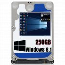 250GB 2.5 Hard Drive For Samsung R528 Windows 8.1 Pro 64bit Fully Loaded