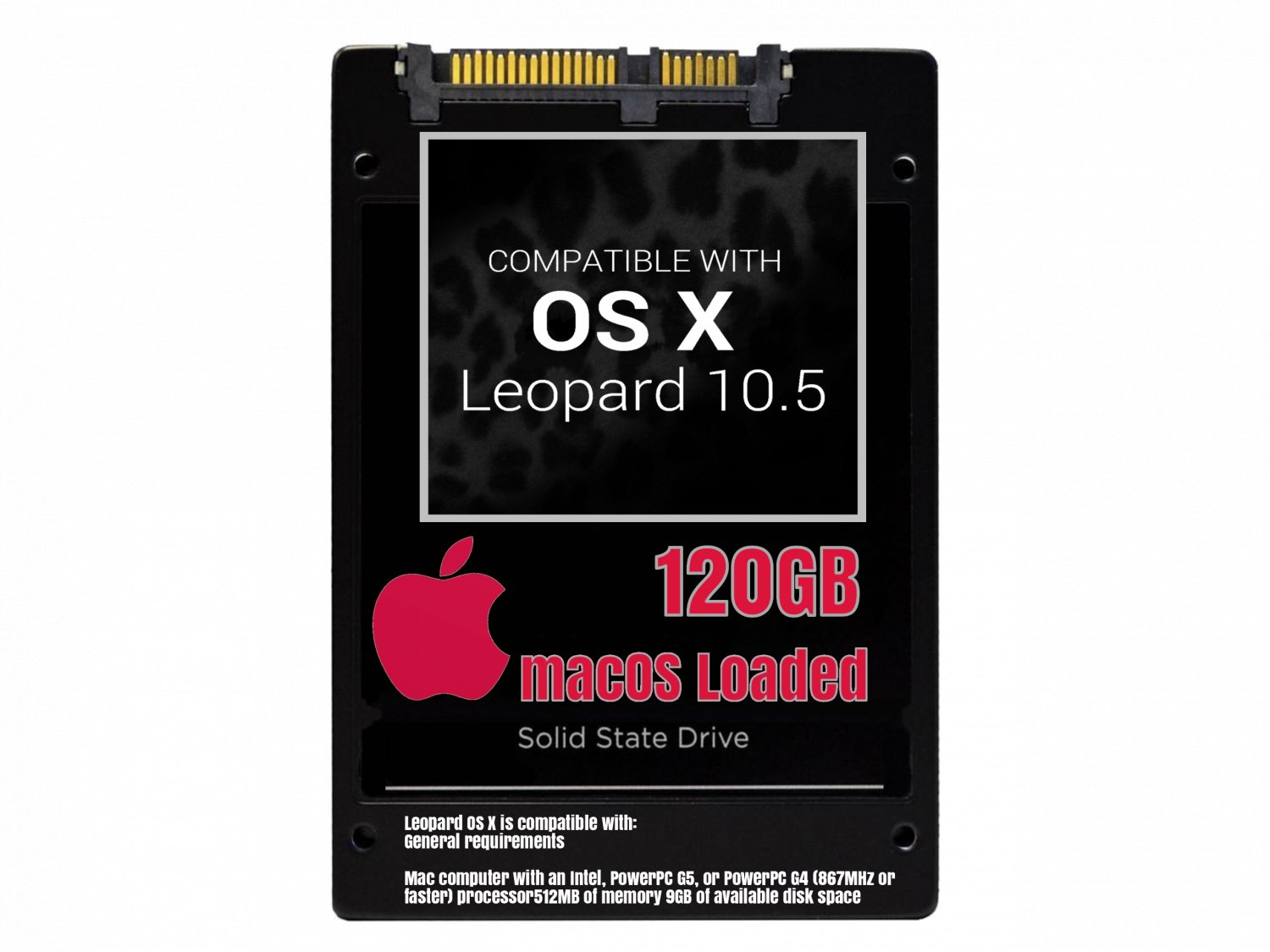 macOS Mac OS X 10.5 Leopard Preloaded on 120GB Solid State Drive