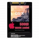 macOS Mac OS X 10.10 Yosemite Preloaded on 500GB Solid State Drive