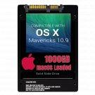 macOS Mac OS X 10.9 Mavericks Preloaded on  1000GB Solid State Drive