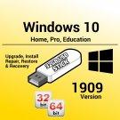 Windows 10 1909 Version 32Bit 64Bit USB Recovery Reinstall Boot Restore