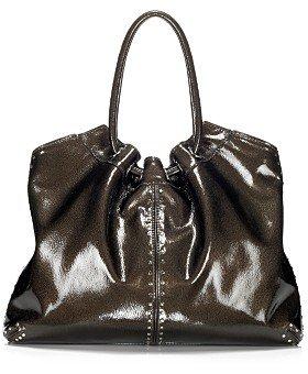 Michael Kors Large Black Patent Leather Astor Handbag