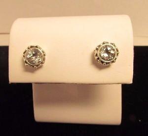 1.5 ct Round Green Amethyst 925 Sterling Silver Stud Earrings