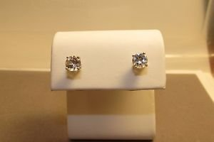2.37ct Round White Topaz 925 Sterling Silver Stud Earrings