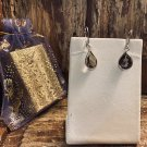 Smokey Quartz topaz Sterling Silver Oval Leverback Dangle Earrings