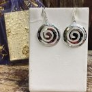 Celtic Spiral French Wire Sterling Silver Earrings