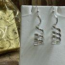 Festive Swirl Sterling Silver Dangle Earrings