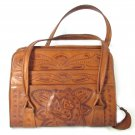 Tooled Leather Handbag Purse Mexico