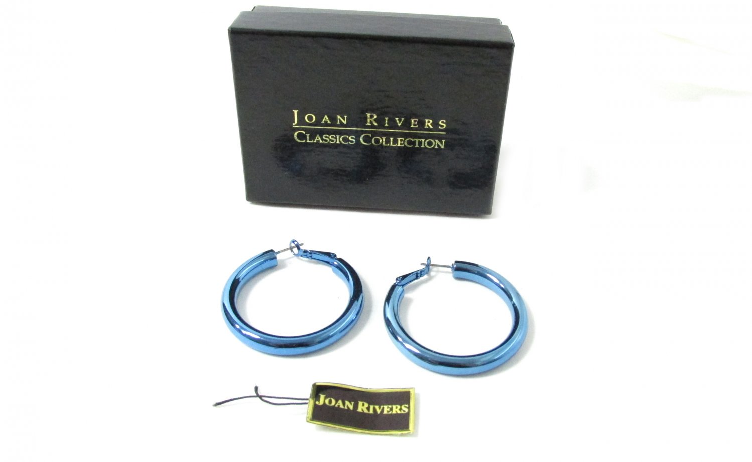 Joan Rivers Blue Hoops Classics Collection Never Been Used