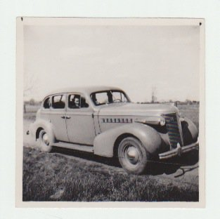 Vintage Automobile Photograph - Great Grandad's New Wheels - Original
