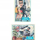 Vintage Batman and Robin Trading Trade Cards Blue Bat 1966