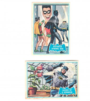Vintage Batman and Robin Trading Trade Cards Blue Bat 1966