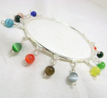 Rainbow Bangle Bracelet - Bright Summer Colors!