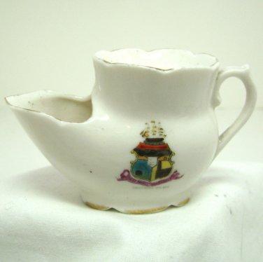Vintage Mini Shaving Mug - Scuttle Miniature - Crested Ware Ship  Southend on Sea, England