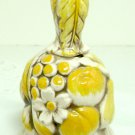 Vintage Ceramic Bell with Yellow fruit and flowers - Inarco Japan