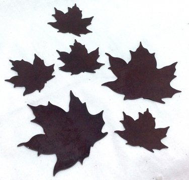 Rustic Metal Leaves Lot of 6 for Scrapbooking, Embellishment or Altered Art, Crafts