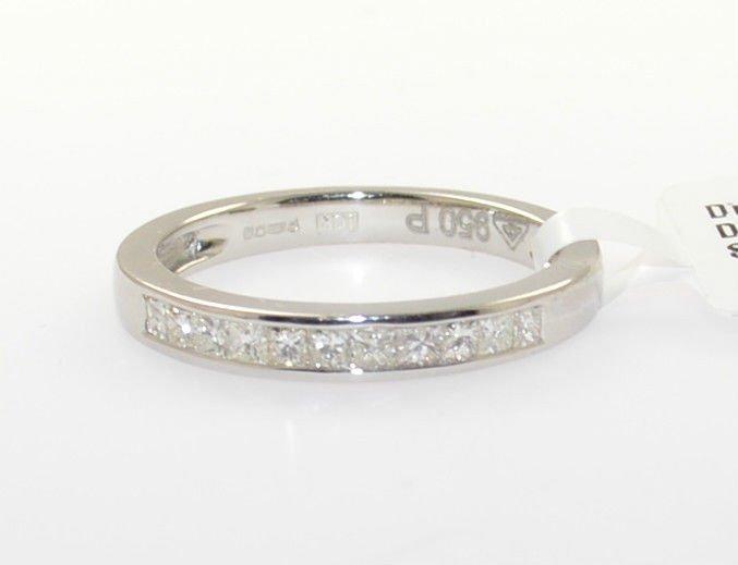 0.25ct Channel Set Princess Cut Diamonds Half Eternity Wedding Ring in Platinum