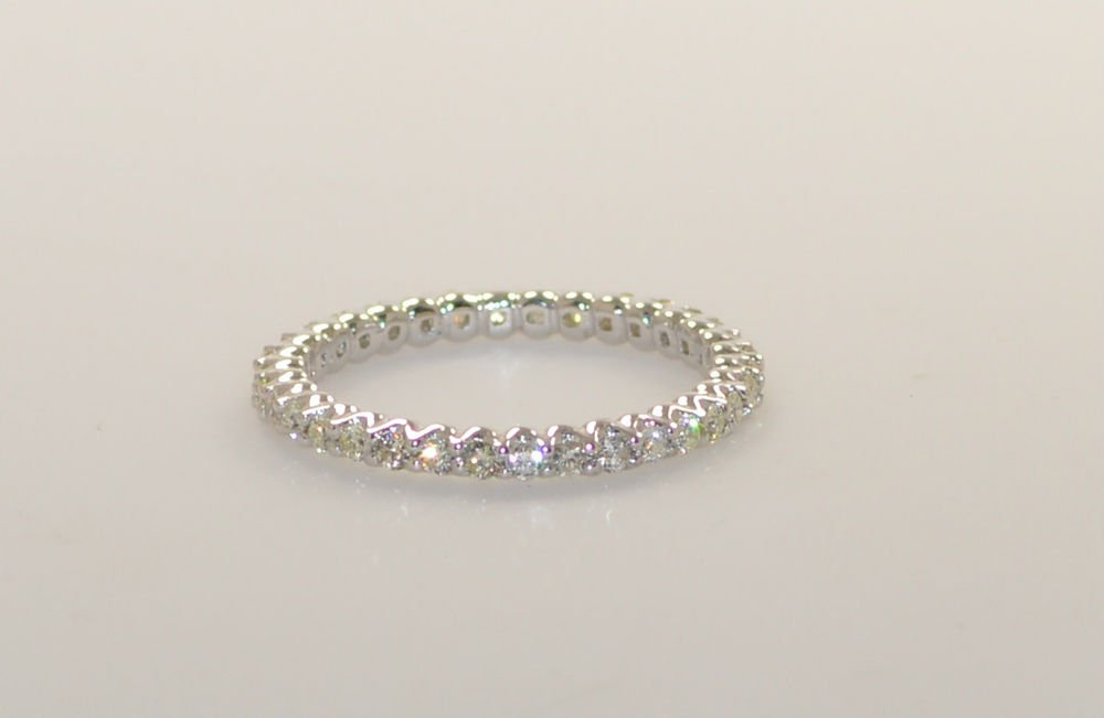 0.55ct ROUND BRILLIANT CUT DIAMONDS FULL ETERNITY WEDDING RING IN 9k WHITE GOLD