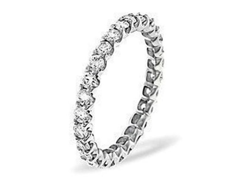 G/VS 0.60 carat ROUND DIAMONDS FULL ETERNITY WEDDING RING BAND IN 950 PLATINUM