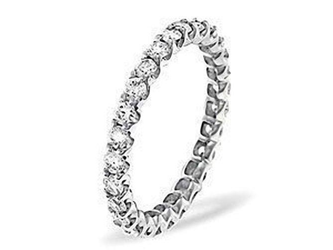 G/SI 0.60ct DIAMOND FULL ETERNITY WEDDING RING,9K WHITE GOLD,SIZE L½ from finediamondsrus