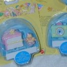 1995 MIMI GOO GOOS African Baby Polly Pocket COMPACT 2 SETS Collection MOC