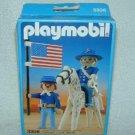 1987 PLAYMOBIL Western DECORATED UNION GENERAL Civil War + APPALOOSA 3306 MIB