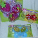 2000 Polly Pocket FRUIT SURPRISE CHERRY Scented PLAYSET DOLL Necklace MOC #28652