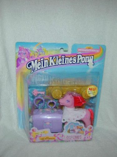 EURO EXCLUSIVE 1999 LADY CUPCAKE with MAGIC CHEST KEY My Little Pony MLP G2  MOC