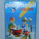 1978 PLAYMOBIL Pure White COLOR Set WORKERS CONSTRUCTION DELIVERY 3690 MIB Tools