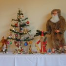 TOADSTOOL MUSHROOM Dwarf Gnome Elf GERMAN Glass Christmas TREE ORNAMENT