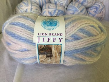 YARN LOT OF 8 - Lion Brand Detroit  NEW UNUSED Baby Yarn Soft Variegated