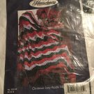 """Exclusive HERRSCHNERS Crochet """"CHRISTMAS LACY RIPPLE AFGHAN"""" Huge 63"""" X 72"""" HTF"""