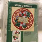 "VTG Craftways Plastic Canvas MERRY CHRISTMAS Wall Hanging Kit 11"" x 12"" #570045"
