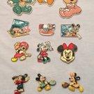 14 RARE Disney Magnets 70s Disneyland WDW Rubber Plastic 3D Mickey Donald Minnie