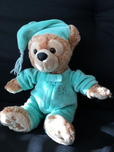 "Disney Park HIDDEN MICKEY Mouse Teddy Bear Night Cap Brown 13"" Pajamas"