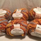 New LOT 6x Willow Yarns GOLDEN FOREST Autumn Fall 100g Variegated FREE SHIPPING